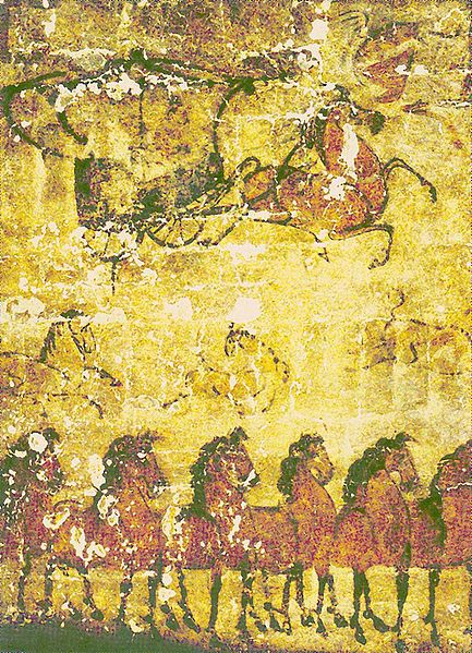 ccs public domain Han_Tomb_Mural,_Horses_and_Carts