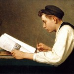 cc school The_young_student_by_Ozias_Leduc,_1894_